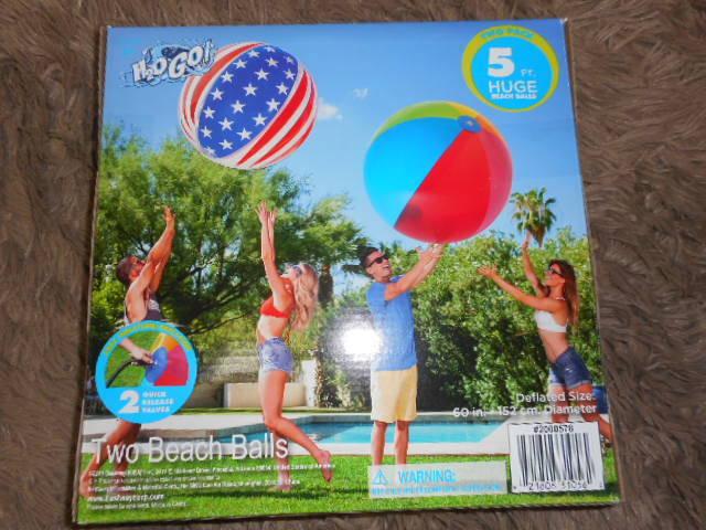 ★即決★H2OGO!★特大(巨大)ビーチボール2個セット★152㎝★イベント・プール・水遊び・海★_画像1