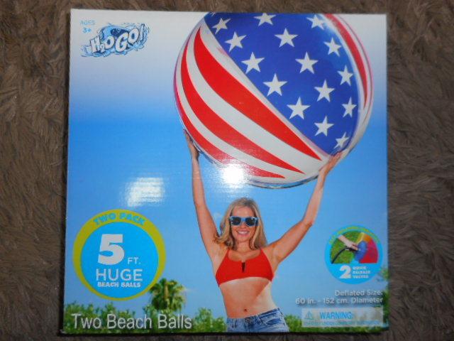 ★即決★H2OGO!★特大(巨大)ビーチボール2個セット★152㎝★イベント・プール・水遊び・海★_画像2