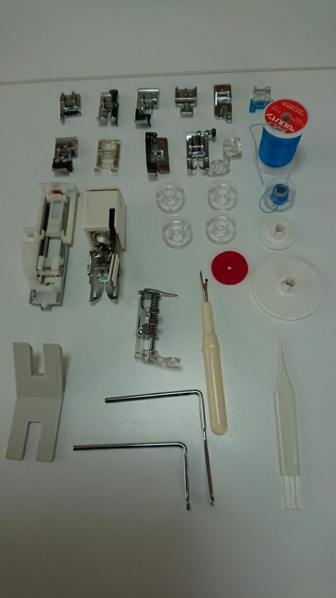ジャノメミシン刺繍機能内臓コンピューターミシンセシオ9500型。試縫い済。取説ハードケース付き、調子良好。_画像4