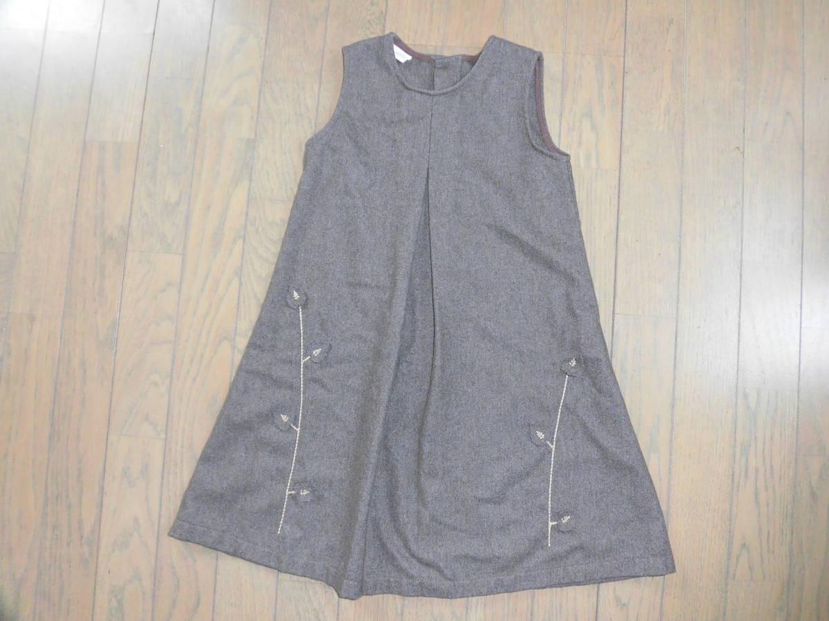 CRUCIGRAMA★ウール茶色のジャンパースカート、秋冬★6歳120位_画像1