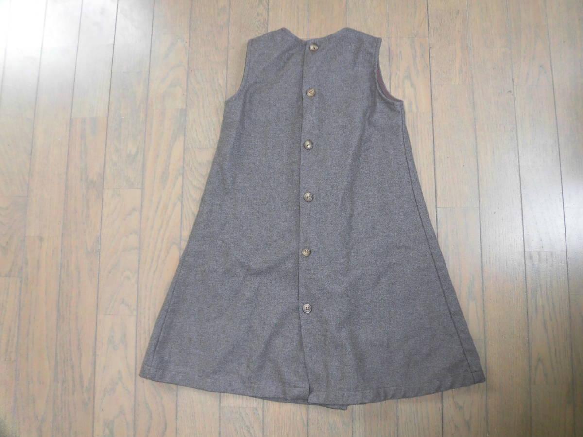 CRUCIGRAMA★ウール茶色のジャンパースカート、秋冬★6歳120位_画像2