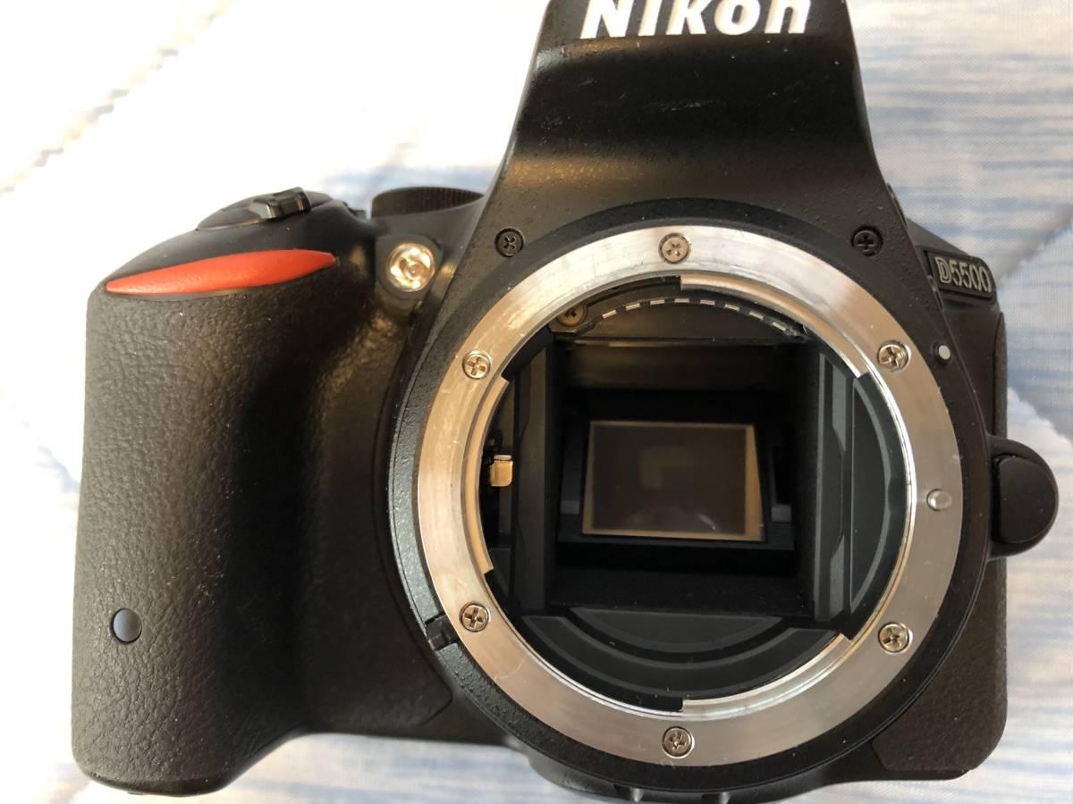 中古 ニコン D5500 ボディ ショット数5855 元箱、付属品完備_画像2