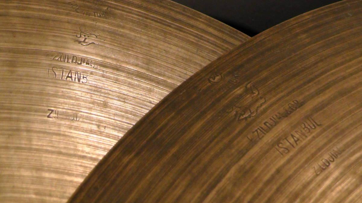 """【動画】14"""" 658g, 694g K.Zildjian Istanbul OLD STAMP 40s Hihats type II【送料無料】オールドK ビンテージ _画像4"""