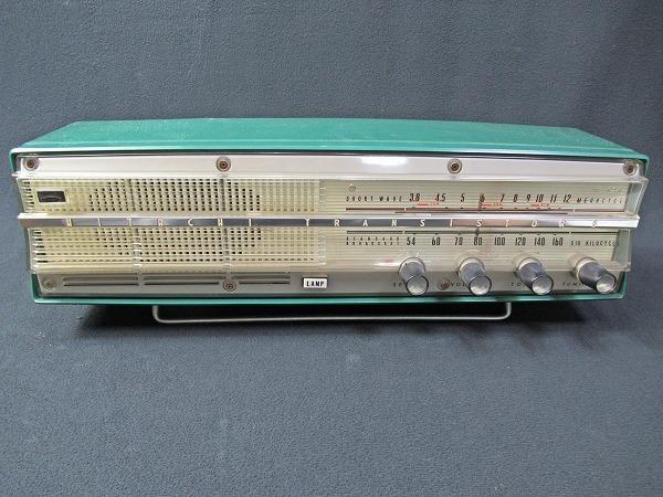 ◆[C94]日立 2バンド 8トランジスター テーブル/ラジオ エリーザ W-826 アンティーク ラジオ 動作確認済_画像3