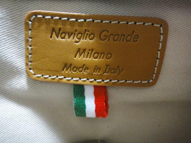 Naviglio Grande Milano ナビリオ・グランデ・ミラノ トートバック ネイビー 新品未使用品_画像5