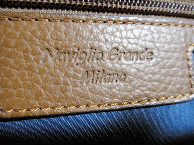 Naviglio Grande Milano ナビリオ・グランデ・ミラノ トートバック ネイビー 新品未使用品_画像4