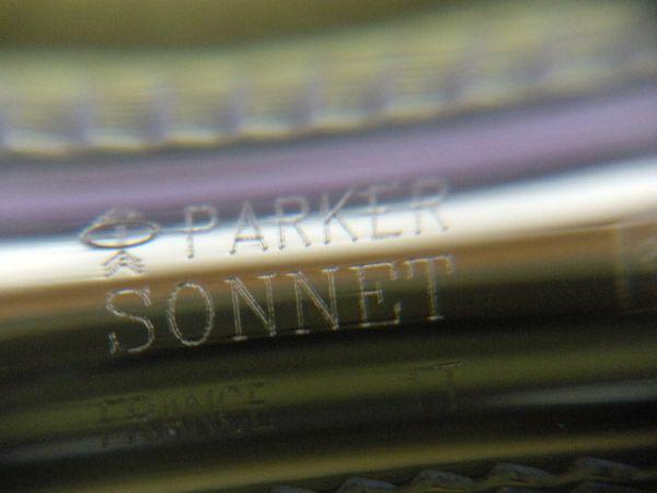 ★パーカー ソネット/PARKER SONNET 万年筆/ペン先 18K 750/Fサイズ/本体 シルバー&ゴールド色/筆記用具/希少/未使用品★_画像9