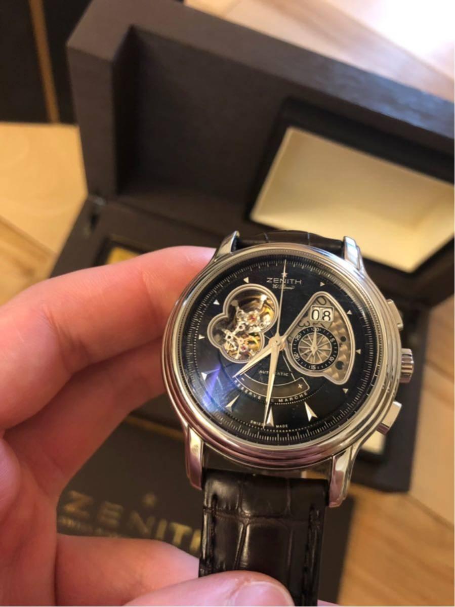 Zenith ゼニス クロノマスター ZENITH エルプリメロ 腕時計 45mm open XXT tマスター グランデイト_画像2