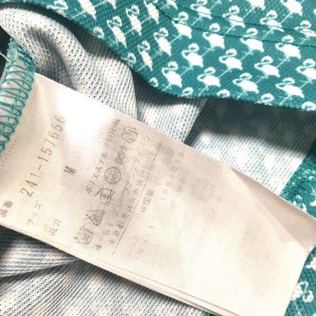 ★超美品★callaway キャロウェイ 半袖ポロシャツ メンズM 速乾ドライ素材 フラミンゴ柄 ゴルフシャツ ボタンダウン_画像9