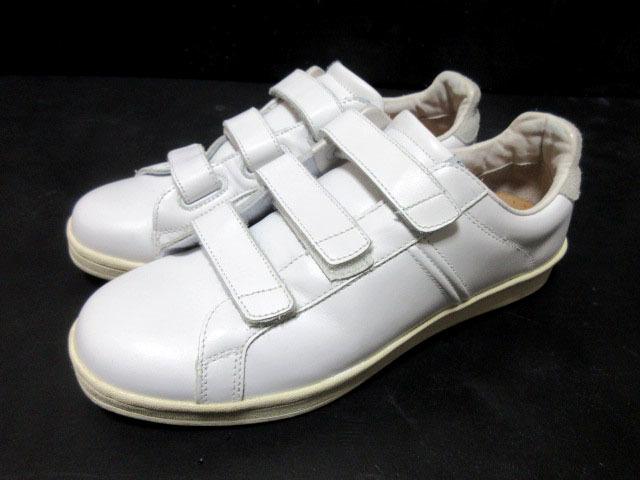 アドミラルAdmiralベルクロ25cmローカットLowスニーカー靴ホワイト白スタンスミス型ウォーキングシューズUS7メンズ1円ビンテージUSA古着UK6
