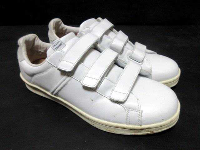 アドミラルAdmiralベルクロ25cmローカットLowスニーカー靴ホワイト白スタンスミス型ウォーキングシューズUS7メンズ1円ビンテージUSA古着UK6_画像2