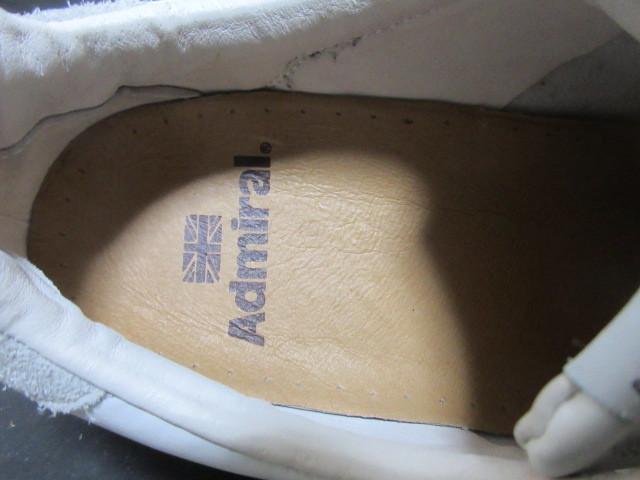 アドミラルAdmiralベルクロ25cmローカットLowスニーカー靴ホワイト白スタンスミス型ウォーキングシューズUS7メンズ1円ビンテージUSA古着UK6_画像5