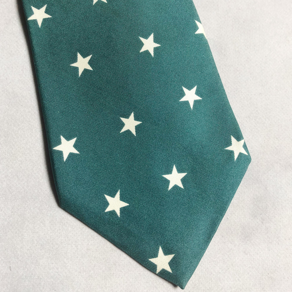 USA製 POLO Ralph Lauren STAR FLAG 星 国旗 TIE ネクタイ ポロ ラルフローレン MADE IN USA アメリカ製 VINTAGE ヴィンテージ 90年代 レア_画像2