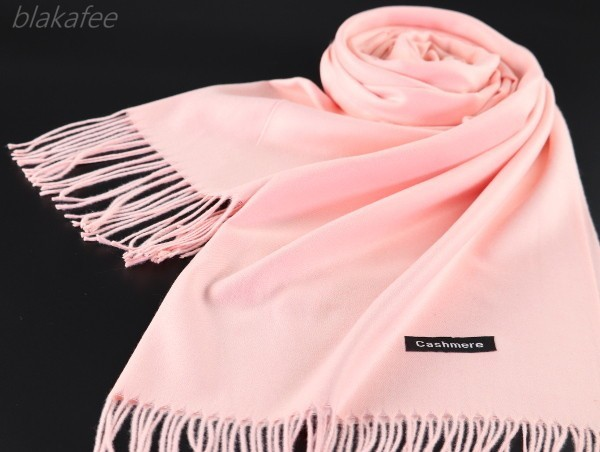 blakafee #BS-5030 極上 カシミア100%【パステルピンク】*無地* 大判 ストール スプリング カラー* High Quality Cashmere Collection*