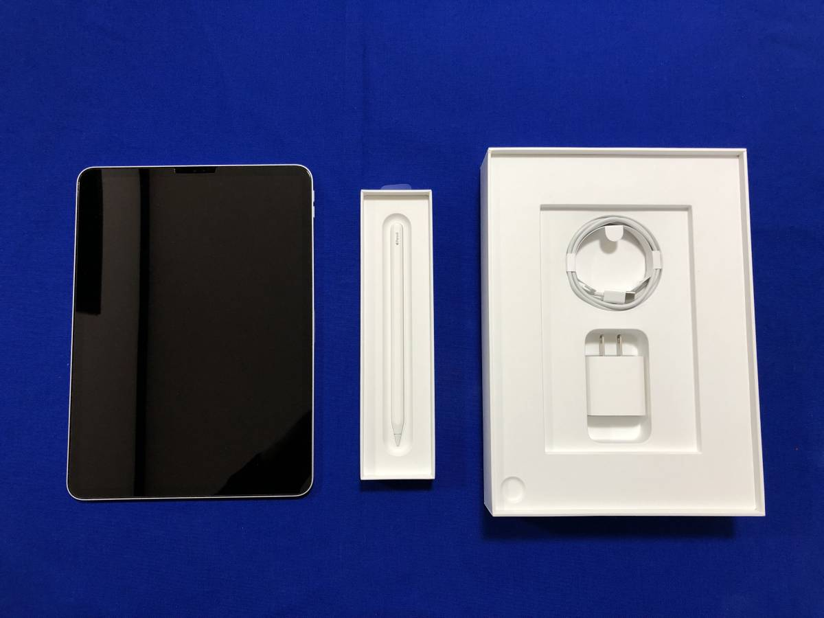 ★ipad pro 11インチ MTXP2J/A WiFiモデル シルバー 64GB +第2世代Apple Pencil 美品★_画像2