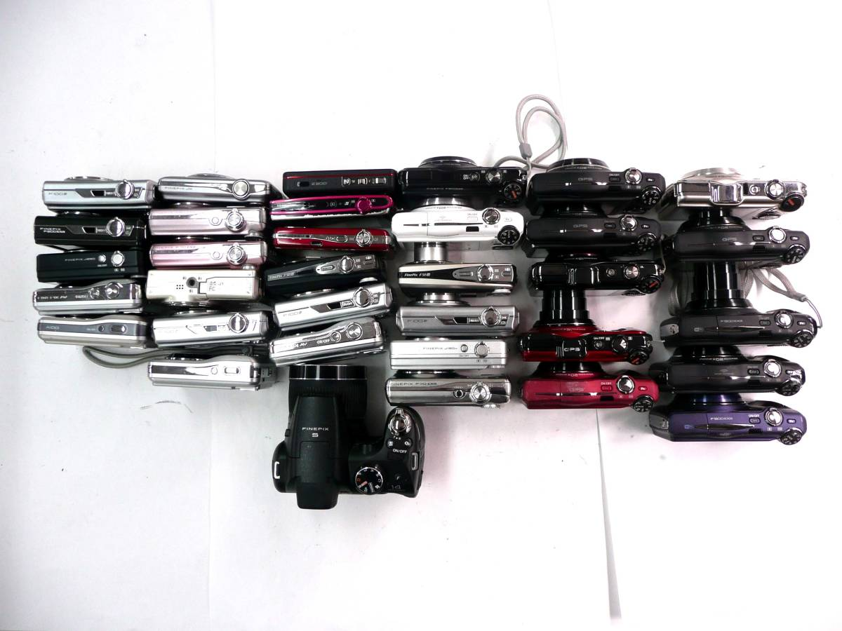 【ジャンク カメラ】 FUJIFILM コンパクトデジタルカメラ 計34台セット 富士フイルム (J665M) 同梱発送不可_画像3