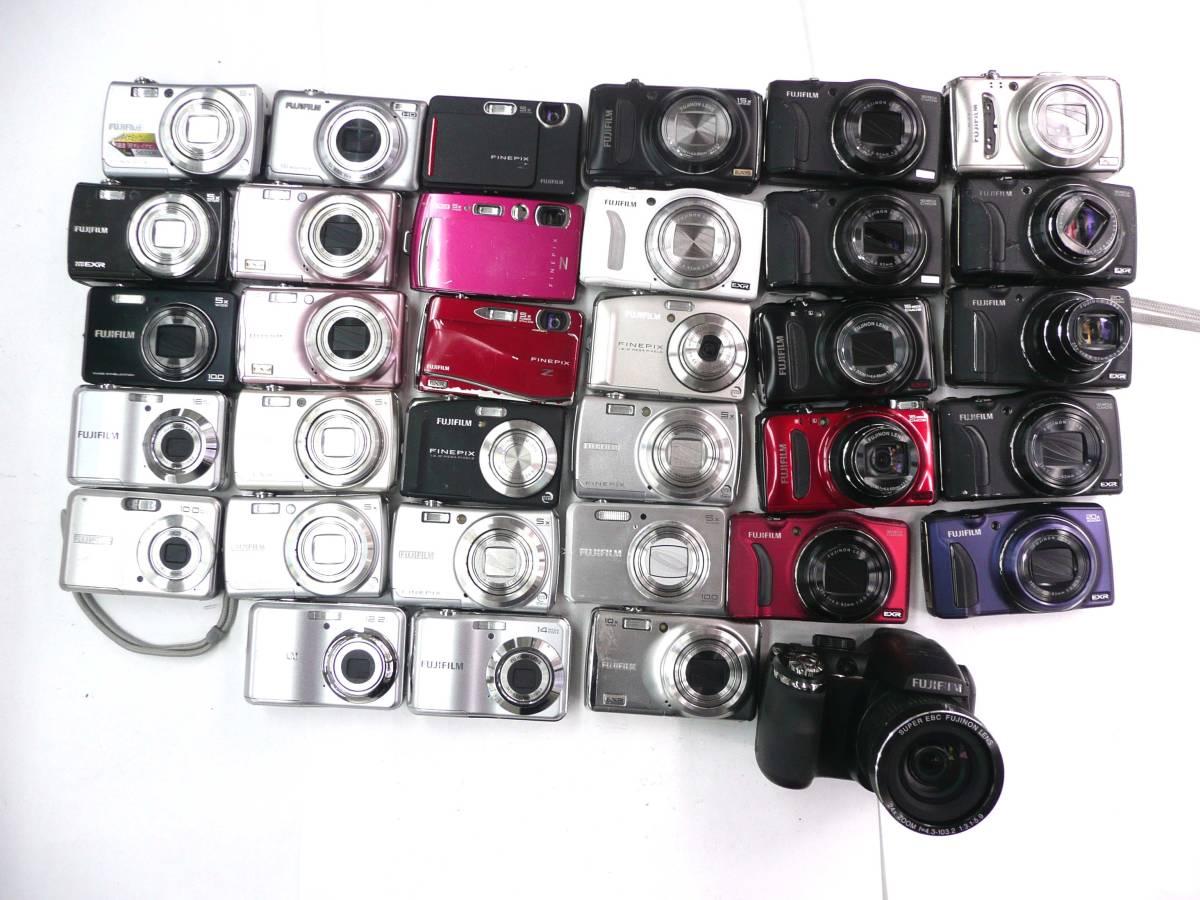 【ジャンク カメラ】 FUJIFILM コンパクトデジタルカメラ 計34台セット 富士フイルム (J665M) 同梱発送不可