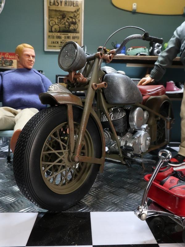 超レア★非売品★1/6 カスタム オートバイ バイク インディアン ラットロッド Rat Rod 塗装済み完成品_画像10