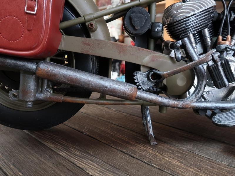 超レア★非売品★1/6 カスタム オートバイ バイク インディアン ラットロッド Rat Rod 塗装済み完成品_画像7