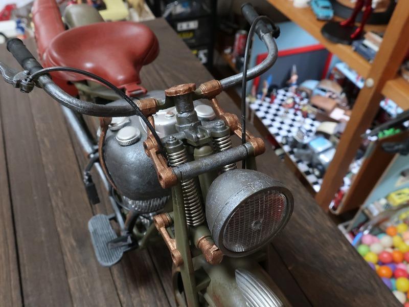 超レア★非売品★1/6 カスタム オートバイ バイク インディアン ラットロッド Rat Rod 塗装済み完成品_画像9