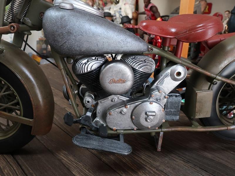 超レア★非売品★1/6 カスタム オートバイ バイク インディアン ラットロッド Rat Rod 塗装済み完成品_画像4
