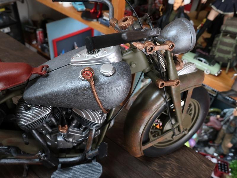 超レア★非売品★1/6 カスタム オートバイ バイク インディアン ラットロッド Rat Rod 塗装済み完成品_画像5