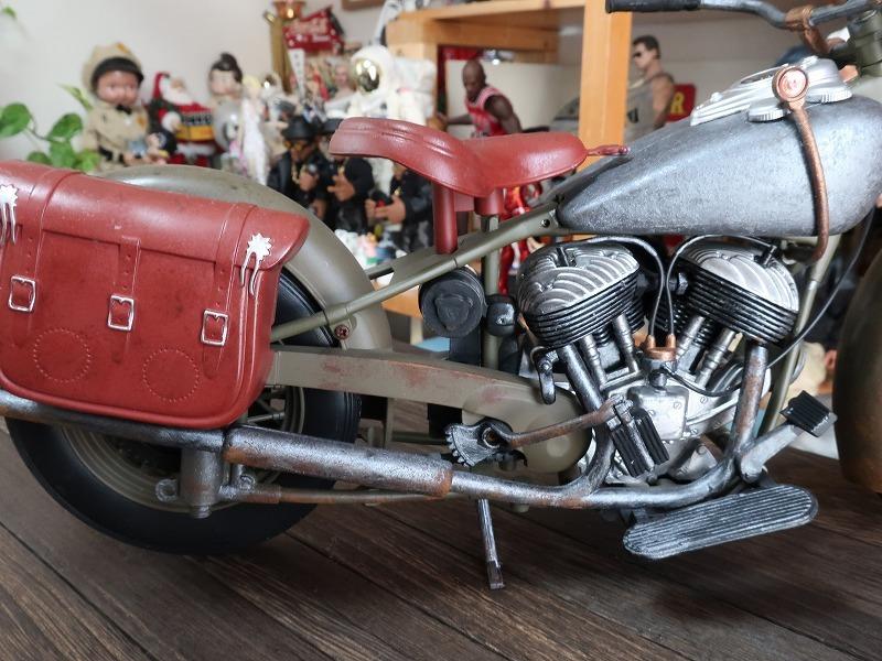 超レア★非売品★1/6 カスタム オートバイ バイク インディアン ラットロッド Rat Rod 塗装済み完成品_画像6