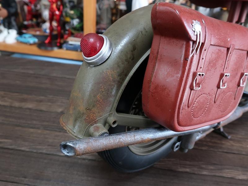 超レア★非売品★1/6 カスタム オートバイ バイク インディアン ラットロッド Rat Rod 塗装済み完成品_画像8