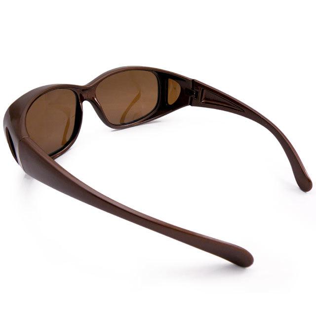 PACIFIC RIDE 偏光オーバーサングラス 釣り ゴルフに UVカット99% ブラウン 茶 パシフィックライド メガネの上から掛けられる_画像7