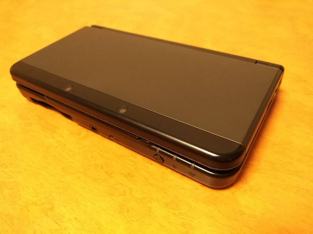 きれいめ New3DS ブラック 中古 完動品 上下液晶フイルター・純正新品ペン付 1円から売切 同梱可能 即決あり_画像2