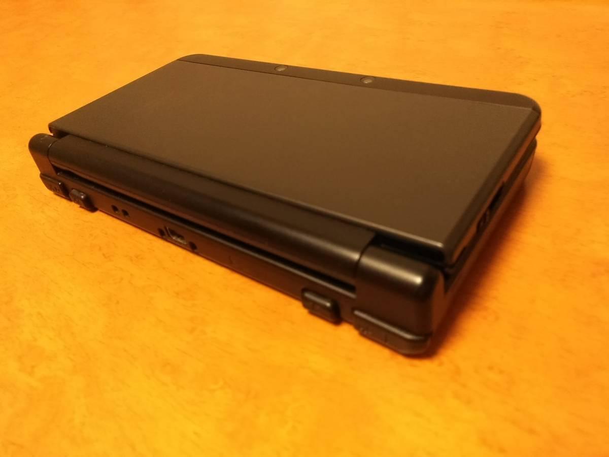 きれいめ New3DS ブラック 中古 完動品 上下液晶フイルター・純正新品ペン付 1円から売切 同梱可能 即決あり_画像3