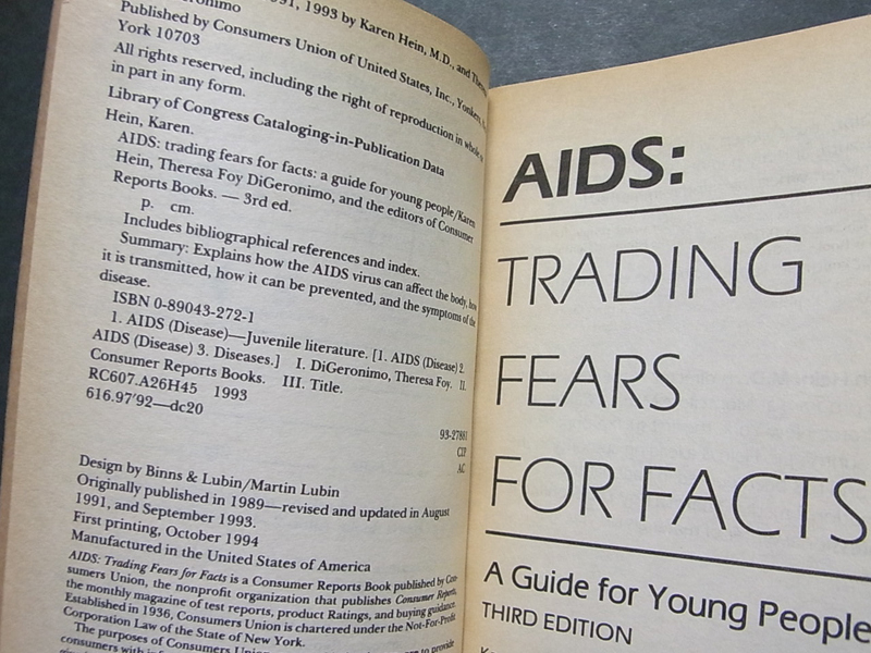 AIDS Trading Fears For Facts A Guide For Young People Keith Haring キース・へリング_画像5