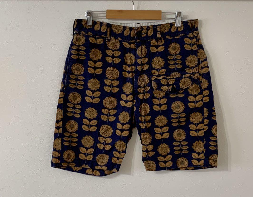 極美 engineered garments 16ss GHURKA SHORTS Daisy Print ショートパンツ ハーフパンツ S 30 32 エンジニアドガーメンツ_画像2