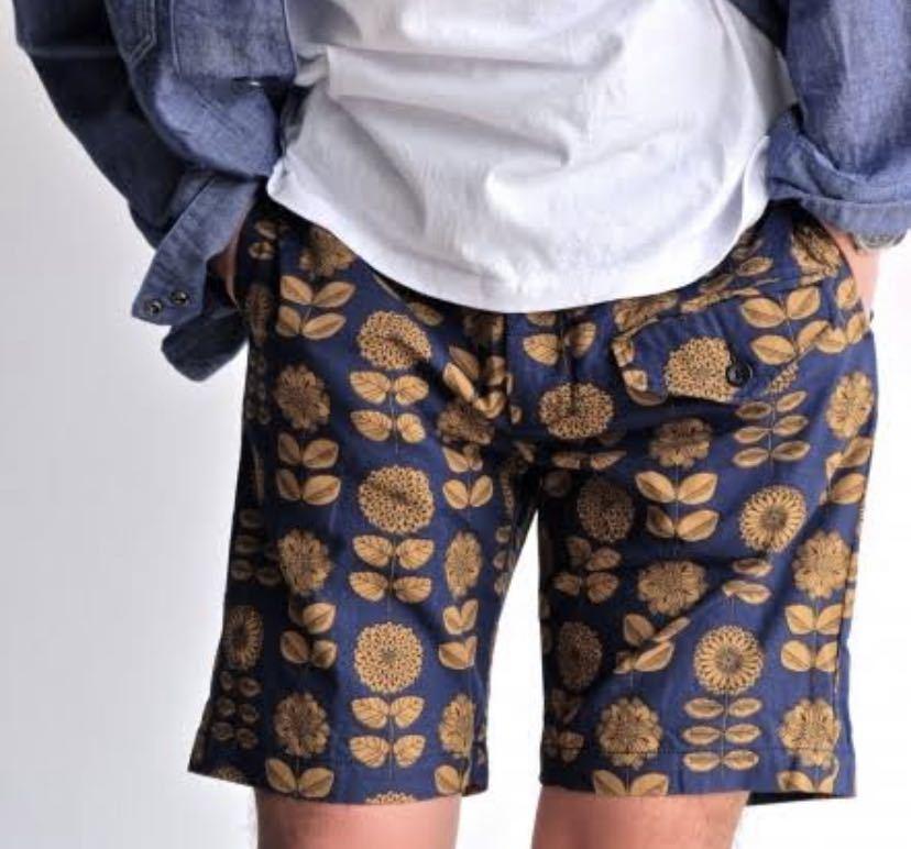 極美 engineered garments 16ss GHURKA SHORTS Daisy Print ショートパンツ ハーフパンツ S 30 32 エンジニアドガーメンツ