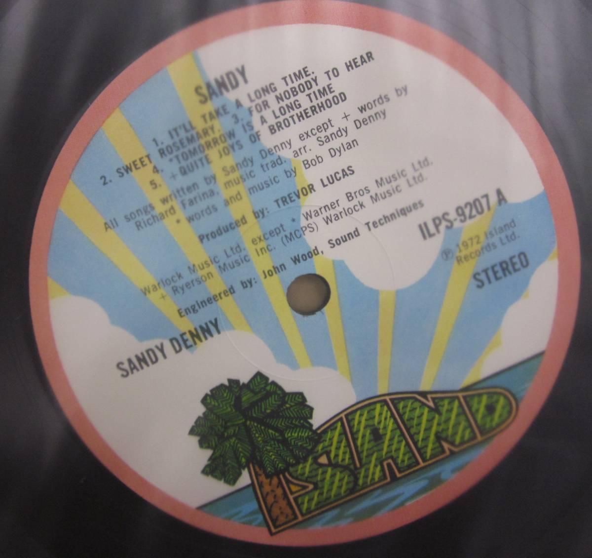中古LP/UKオリジナル/サンディ・デニー SANDY DENNY/SANDY_画像6
