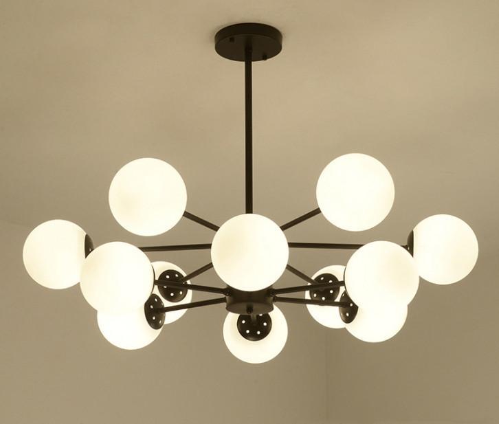 展示処分品 インダストリアル 12灯式ペンダントライト 長さ3パターン対応 吊り下げランプ アンティークW7_画像5