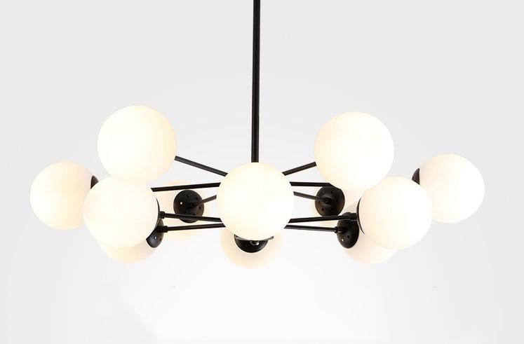 展示処分品 インダストリアル 12灯式ペンダントライト 長さ3パターン対応 吊り下げランプ アンティークW7_画像3