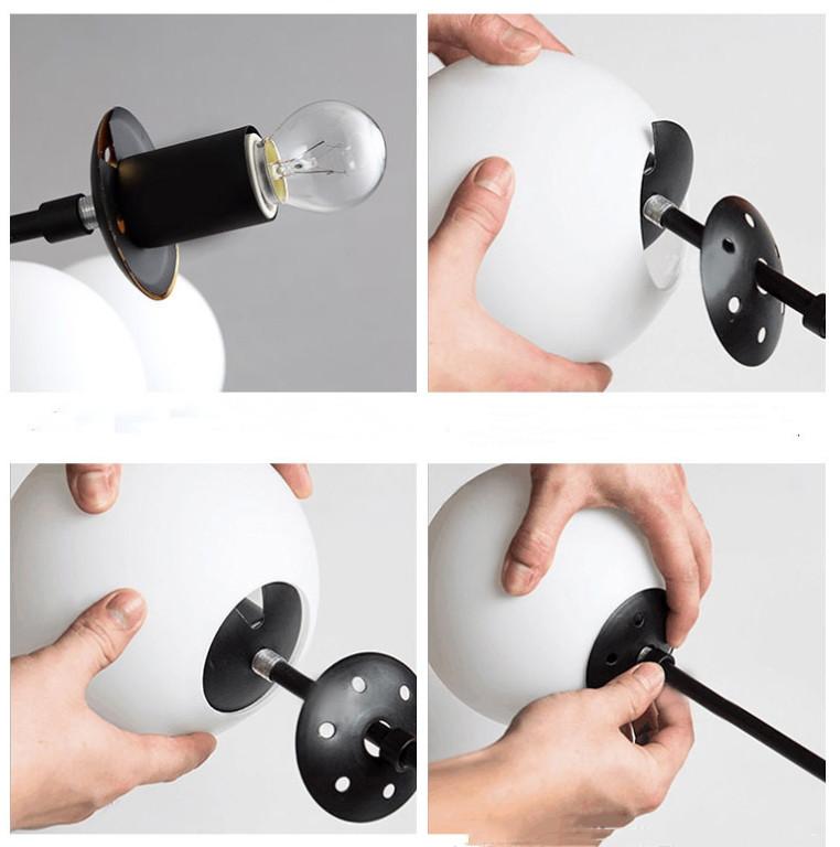 展示処分品 インダストリアル 12灯式ペンダントライト 長さ3パターン対応 吊り下げランプ アンティークW7_画像8