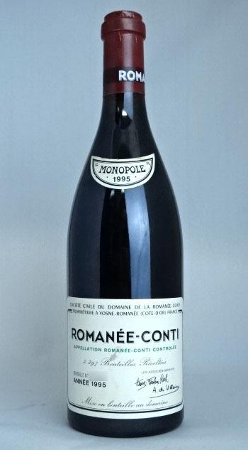 1円スタート! DRC ロマネ コンティ 1995年 750ml PP95点 Domaine de la Romanee Conti