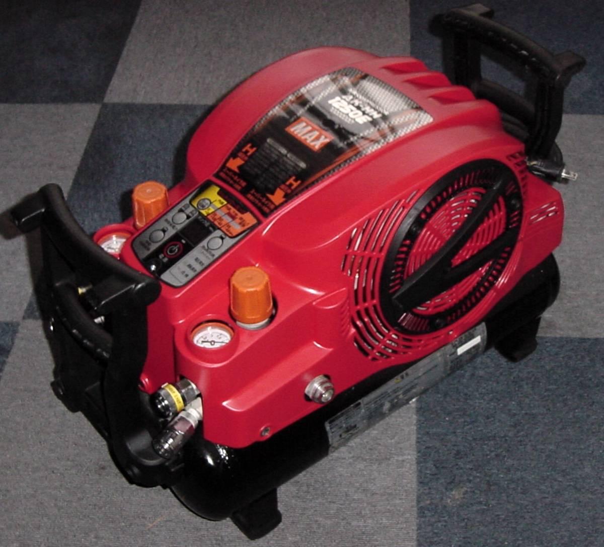 3ヶ月間保障付 MAXス-パーエアコンプレッサ AK-HH1250E  ③  満タン早い  静か 4口共高圧仕様 増設カプラ付