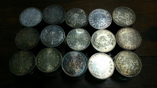 東京オリンピック 昭和39年 1000円銀貨 150枚 送料無料 _画像1