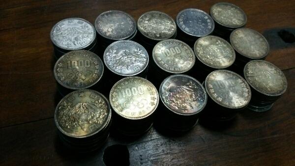 東京オリンピック 昭和39年 1000円銀貨 150枚 送料無料 _画像2
