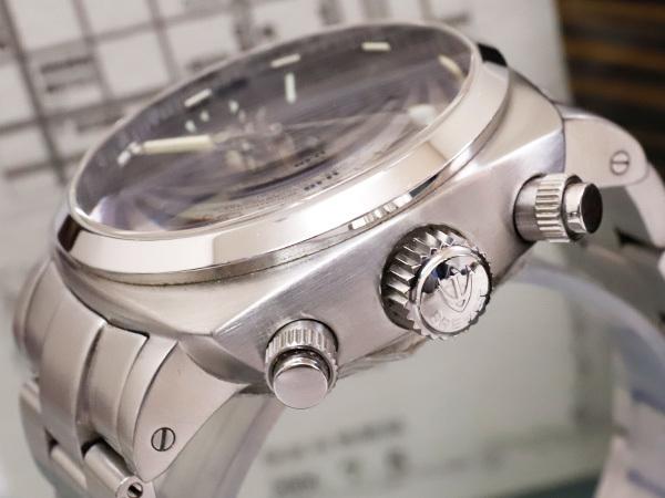 極上品 RXW ROCKX サンドイッチ文字盤 プラズミール ミルグラフ 3カウンター クロノ メンズウォッチ 男性用腕時計 箱 保証書付 本物 正規_画像4