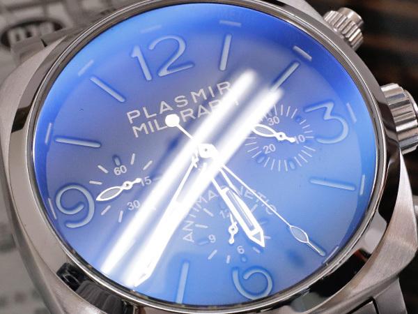 極上品 RXW ROCKX サンドイッチ文字盤 プラズミール ミルグラフ 3カウンター クロノ メンズウォッチ 男性用腕時計 箱 保証書付 本物 正規_画像3