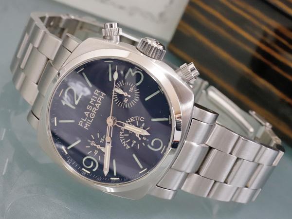 極上品 RXW ROCKX サンドイッチ文字盤 プラズミール ミルグラフ 3カウンター クロノ メンズウォッチ 男性用腕時計 箱 保証書付 本物 正規_画像2