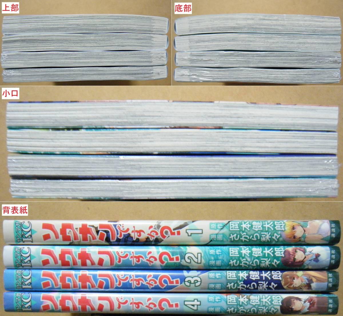 それぞれ上から下へ1~4巻