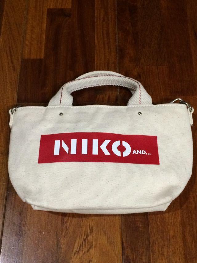 milkfed niko and… ミルクフェド ニコアンド コラボ 限定 2WAYバッグ アイボリー ホワイト レッド 即決