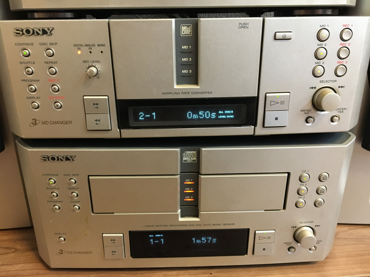 ★SONY ST-MS717 TA-MS717 MDS-MS717 CDP-MS717 システム コンポ 動作OK(CD&MD)★_画像2