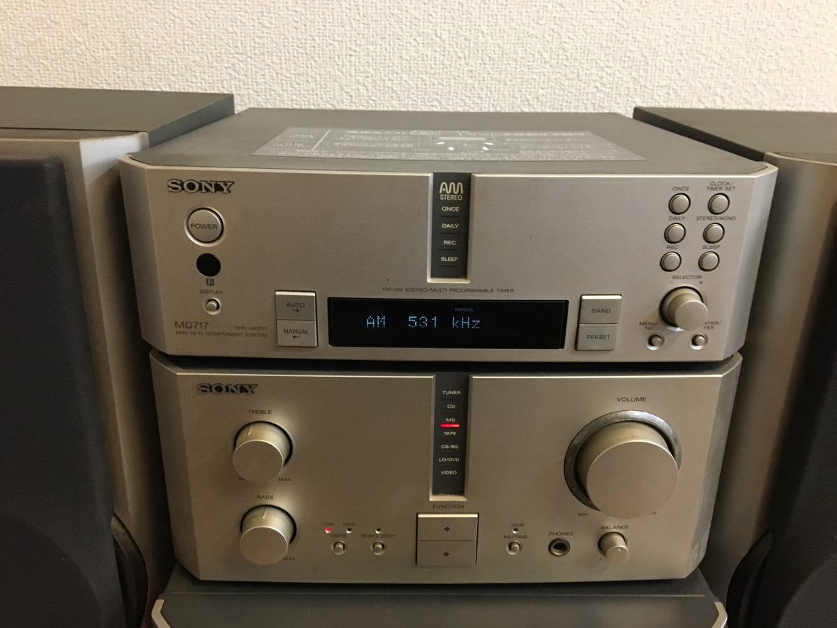 ★SONY ST-MS717 TA-MS717 MDS-MS717 CDP-MS717 システム コンポ 動作OK(CD&MD)★_画像3