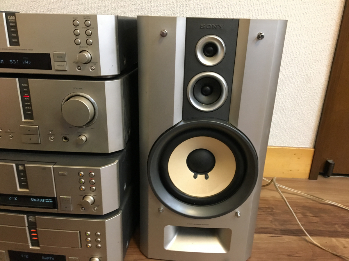 ★SONY ST-MS717 TA-MS717 MDS-MS717 CDP-MS717 システム コンポ 動作OK(CD&MD)★_画像8